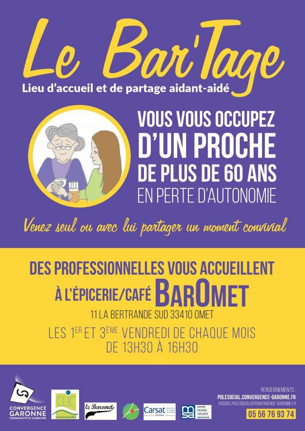 """Reprise des rencontres Aidant-Aidé  """"Le Bar'Tage""""."""